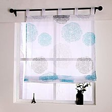 Yujiao Mao Voile Roman Blind with Circles Print