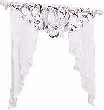 Yujiao Mao Voile Small Window Curtains White