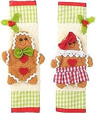 YuKeShop 1 Pair Christmas Kitchen Appliance Handle