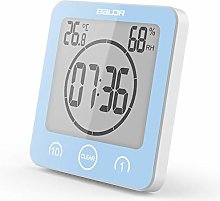 Yulie Digital Bathroom Shower Clock, Digital LCD