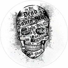 Yumansis Alphabet Skull Super Soft Round Area Rug