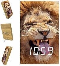 Yumansis Cute Lion LED Digital Alarm Clock Wake Up
