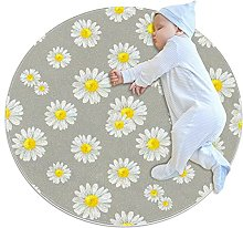 Yumansis Little daisy Bedroom Rug Soft Round