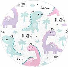 Yumansis Pink Purple Dinosaur Super Soft Round