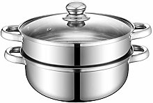 yummyfood Food Steamer Pan Double Layer Stainless