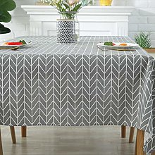 YUMUO Cotton Linen Table Cover,Waterproof Stain
