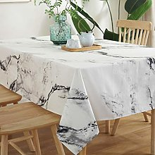 YUMUO Cotton Linen Tablecloth,Rectangle Solid