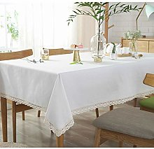 YUMUO Dust-proof Table Cover,White Rectangle