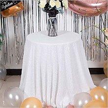 YUMUO Elegant Sequin Tablecloths,Romantic Round