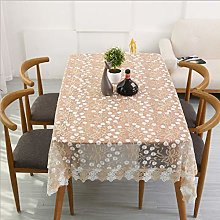 YUMUO Embroidery Lace Tablecloth,Lace Polyester