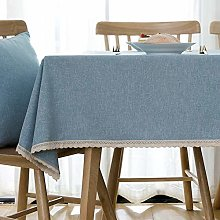 YUMUO Solid Color Washable Table Cover,Rectangle