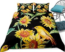yunge Sunflower Bedding Yellow Black Bedclothes