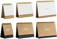 Yunhigh-uk NEW 2021 Desk Calendar, 2020-2021