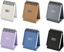 Yunhigh-uk Small Desk Calendar 2021 Month to View,
