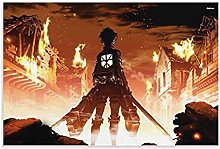 yunlei Attack on Titans - 副本 Canvas Art Poster