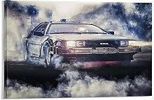yunlei Delorean Car Poster Film Canvas Art Poster