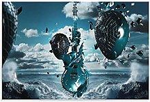 yunlei Guitar 3d Wallpaper Hd Canvas Art Poster