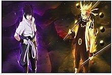 yunlei Narutos And Sasuke Wallpaper Hd Canvas Art