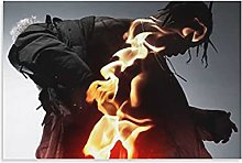 yunlei Travis Scottl Canvas Art Poster and Wall