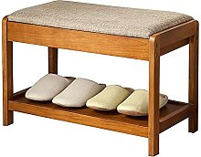YUNLILI Shoe Bench Rack Tier with Padded Seat &