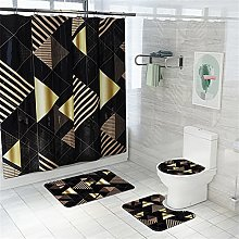 Yunly 4-piece Shower Curtain Printing Waterproof