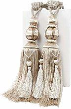 YunNasi 1 Pair Curtain Tie backs Rope Handmade
