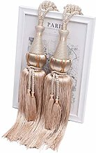 YunNasi 1 Pair Curtain Tiebacks Rope Handmade