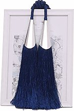 YunNasi 1 Pair Curtain Tiebacks Rope Tassel