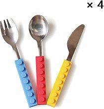 YunNasi Children's Cutlery Fork Spoon Knife