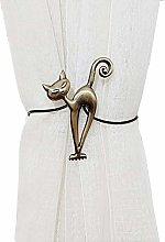 YunNasi Magnetic Curtain Tiebacks Metal Curtain
