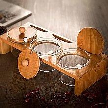 YunNasi Seasoning Box Spice Jar Glass Bottle Spice