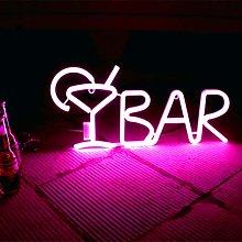Yunobi Neon Light BAR Sign - Letters Shaped Neon