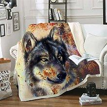 YUNSW 3D Digital Printing Animal Wolf Series Sofa