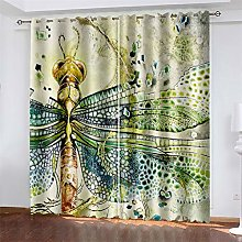 YUNSW 3D Digital Printing Polyester Curtain,