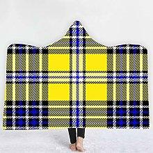 YUNSW Color Plaid Magic Cloak Hooded Cloak