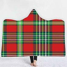 YUNSW Plaid Striped Magic Cloak Hooded Cloak