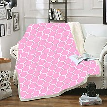 YUNSW Thickened Flake Cotton Wool Blanket, Super
