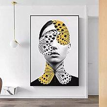 yunxiao Art print Abstract Butterfly Women Wall