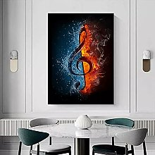 yunxiao Art print Abstract Water and Fire Music