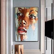 yunxiao Art print Abstract Woman Face Canvas
