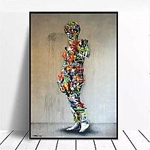 yunxiao Art print Colorful Graffiti Sculpture
