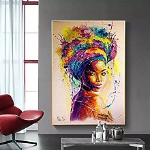 yunxiao Art print Colorful Women Canvas Poster