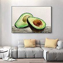 yunxiao Art print Modern Abstract Art Avocado