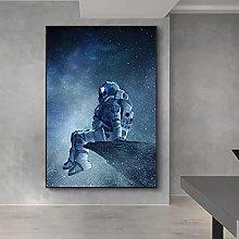 yunxiao Art print Modern Art Lonely Astronaut
