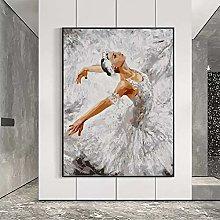 yunxiao Art print Modern Ballet Art Dancer Canvas