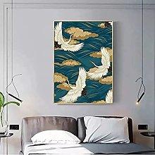 yunxiao Art print Style Crane and Clouds Art