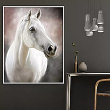 yunxiao Canvas painting White Horse Modern Poster