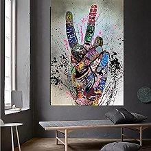yunxiao Canvas prints Graffiti Victory Picture
