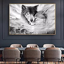 yunxiao Canvas prints Wolf Canvas Paintings Animal