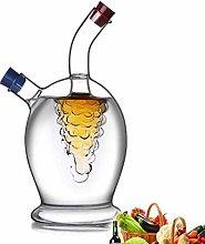 yunyu Oil & Vinegar Bottle Dispenser Glass Olive